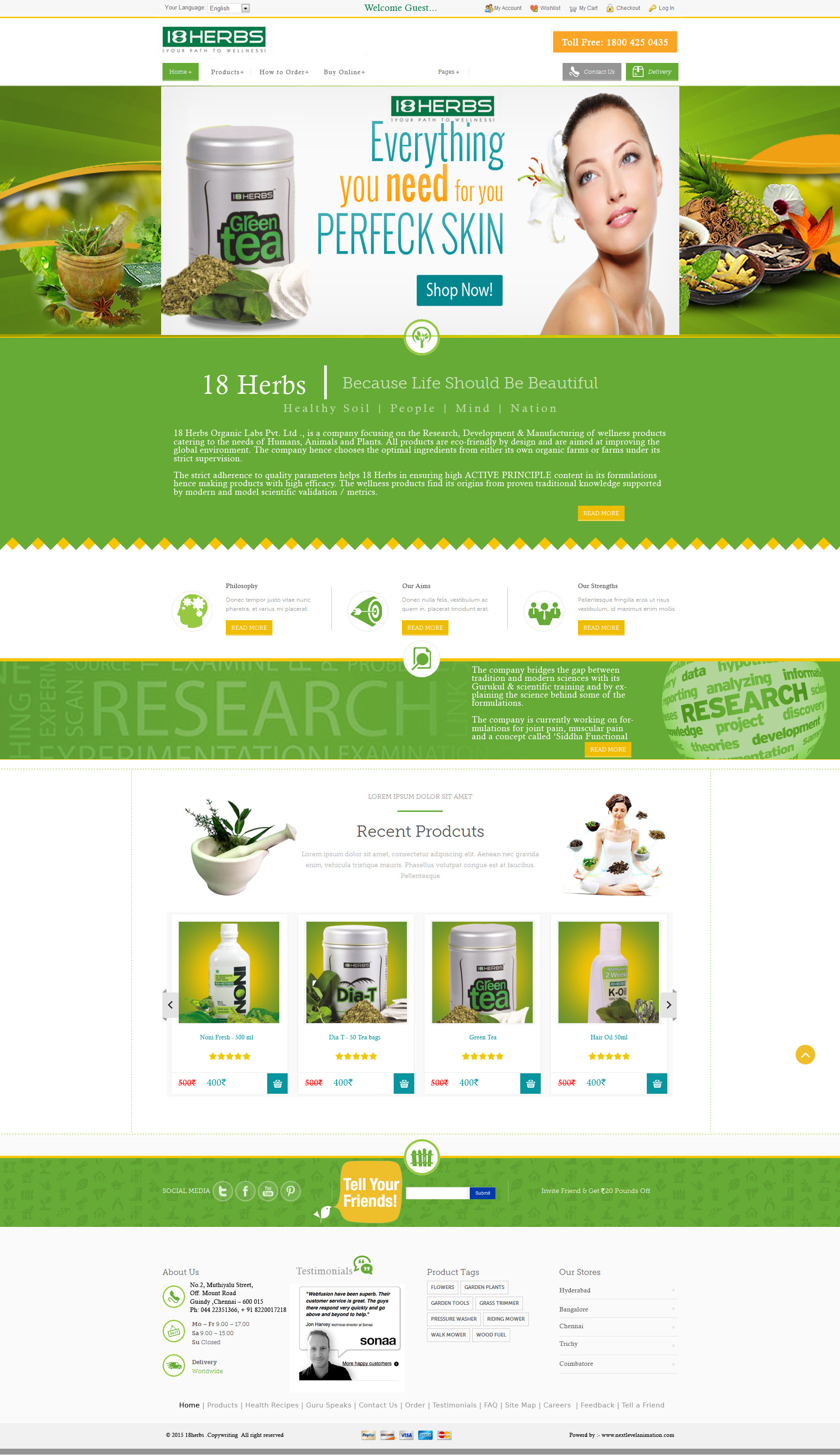 18herbs web designing and development